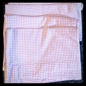 3 Lavender Gingham Pottery Barn Valances